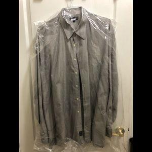 Burberry gray cotton button down shirt new